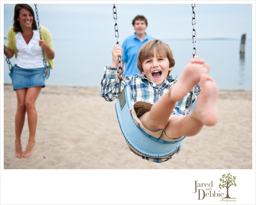 Modern Fun Family Portraits in Port Kent NY