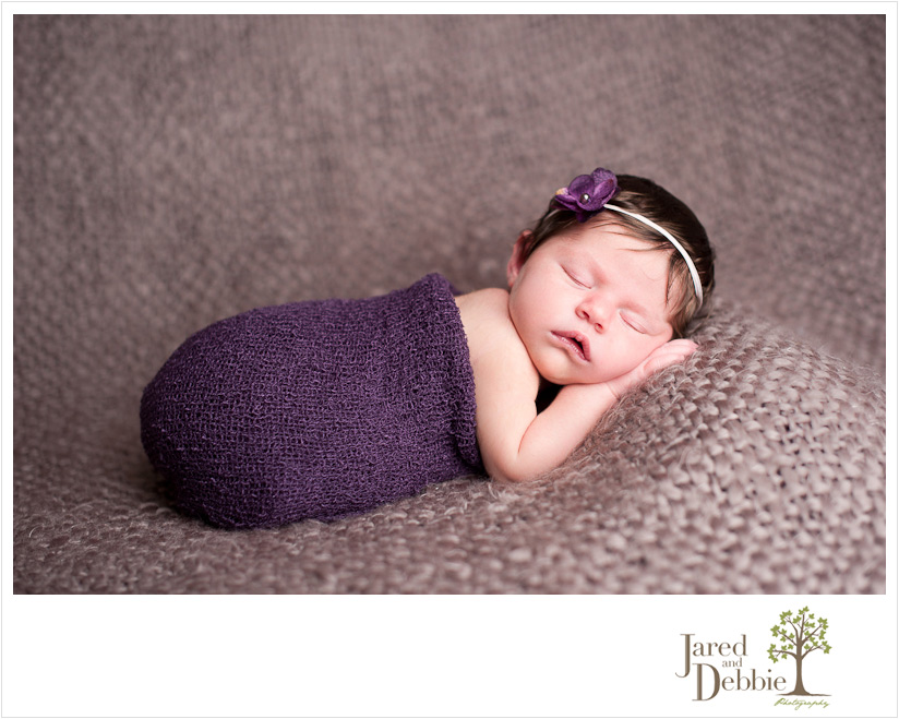Baby girl newborn 8 days old photographed by Jared and Debbie Photography in Plattsburgh NY