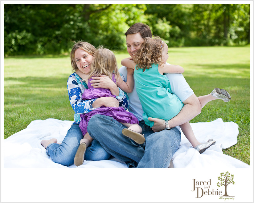 Candid Family Portrait Session by Jared and Debbie Photography in Plattsburgh NY