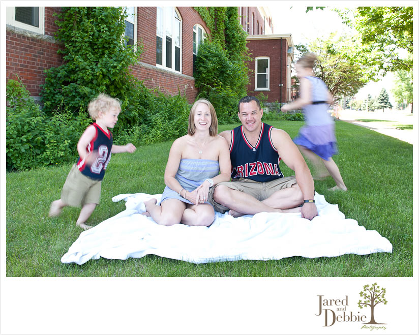 Unique and Fun Family Portrait by Jared and Debbie Photography in Plattsburgh NY