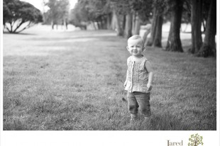shy little girl during Family Portaits in Plattsburgh NY by Jared and Debbie Photography