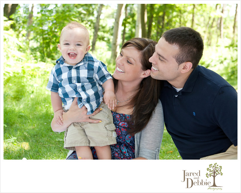 Fun family portrait taken in Plattsburgh NY by Jared and Debbie Photography