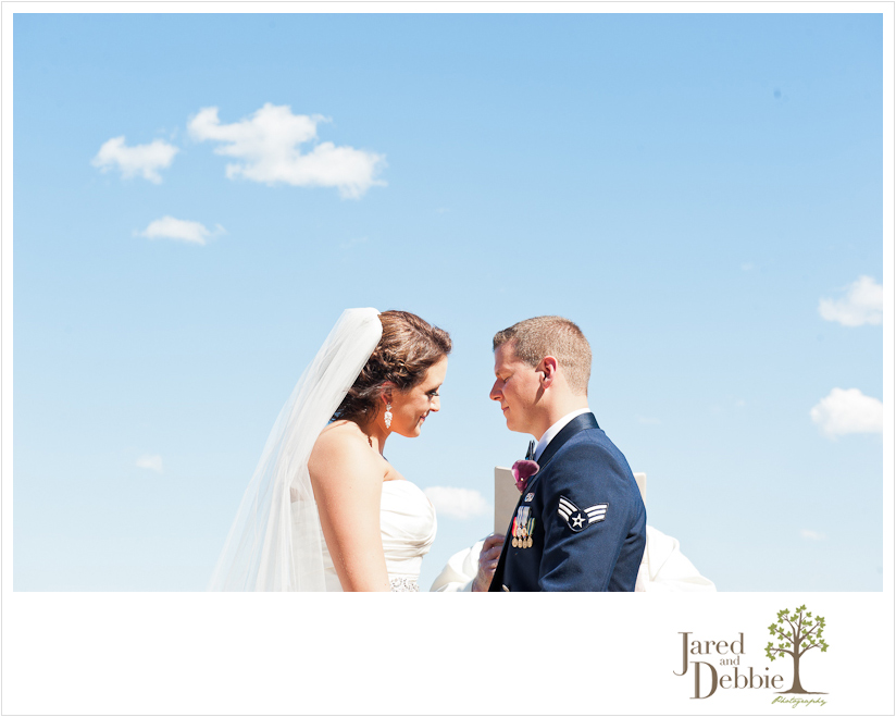 Wedding Ceremony at Clinton Community College by wedding photographers Jared and Debbie Photography