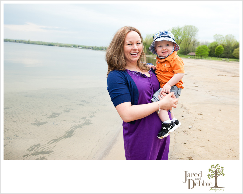Family session at Point au Roche State Park by Jared and Debbie Photography