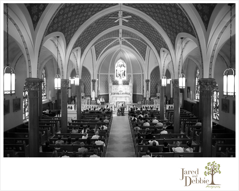 St Agnes Church wedding in Lake Placid NY by Jared and Debbie Photography