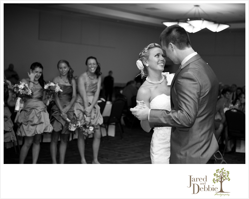 Bride and Groom first dance at Olympic Conference Center Wedding by Jared and Debbie Photography