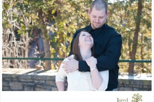 Engagement photos at Ausable Chasm by Jared and Debbie Photography