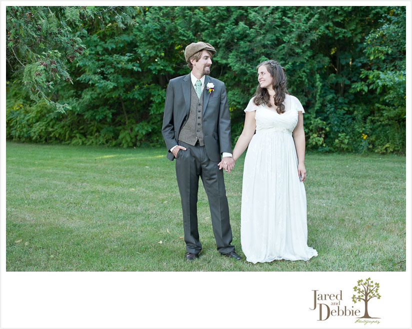 Bride and Groom at Valcour Conference Center by Jared and Debbie Photography