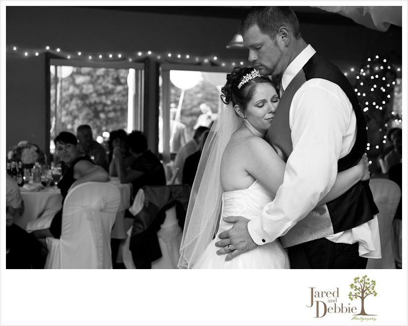 Bride and Groom at Massena Country Club wedding by Jared and Debbie Photography