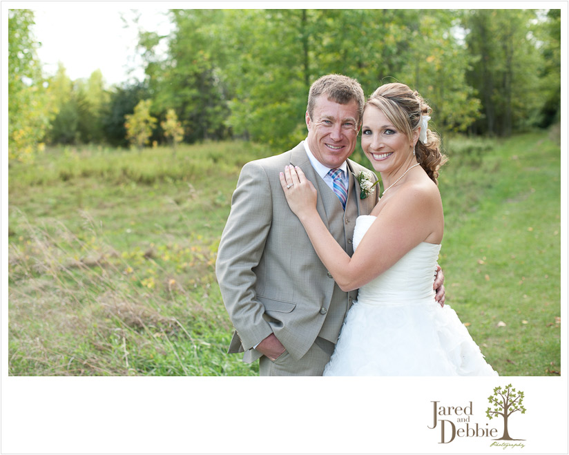 Bride and Groom at Point au Roche Wedding by Jared and Debbie Photography