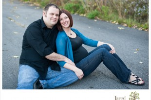 Pregnant mom and dad during maternity session in Plattsburgh with Jared and Debbie Photography