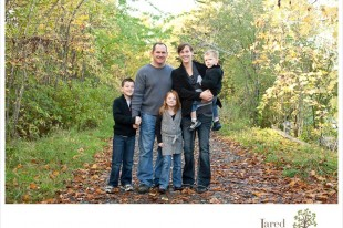 Fall foliage family photo shoot in Plattsburgh with Jared and Debbie Photography