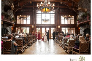 Lake Placid Fall Foliage Wedding by Jared and Debbie Photography at the Whiteface Lodge