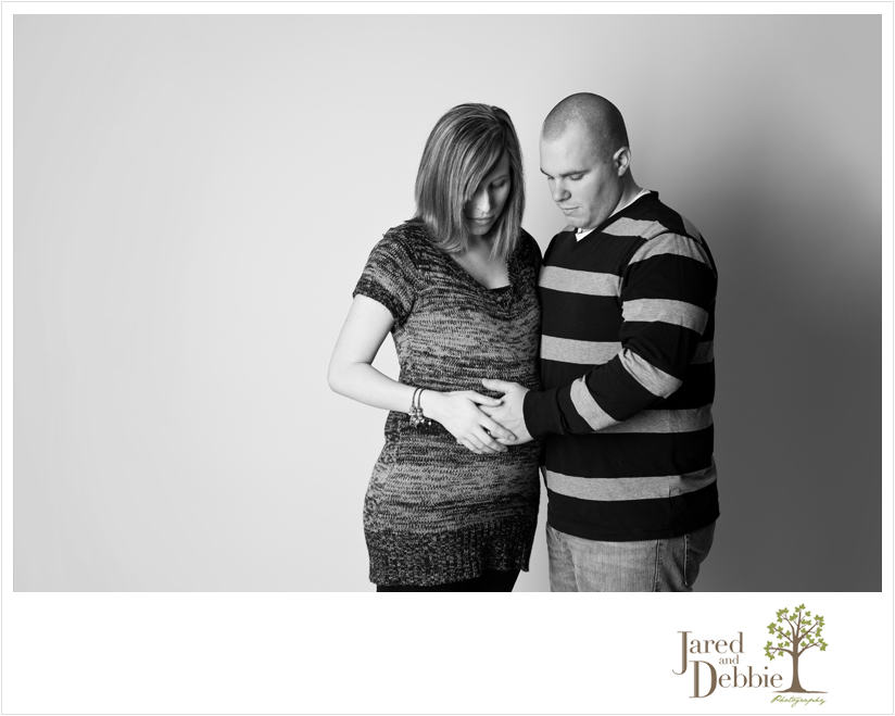 Studio Maternity Session with Jared and Debbie Photography