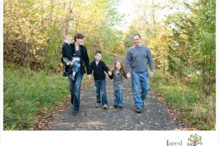 Family of five captured by Jared and Debbie Photography