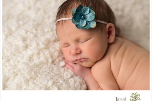 newborn baby girl photographed by Jared and Debbie