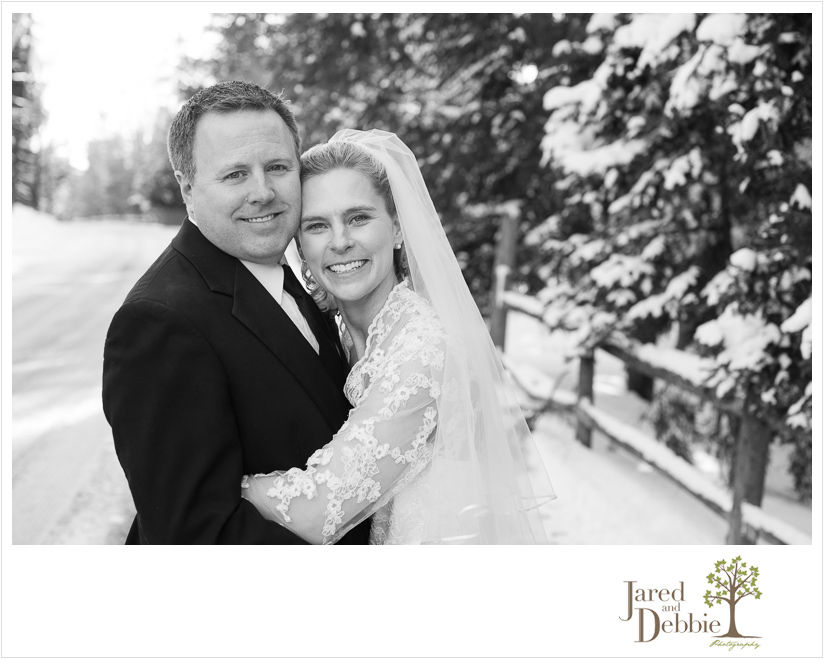 Winter Wedding at the Lake Placid Club photographed by Jared and Debbie Photography