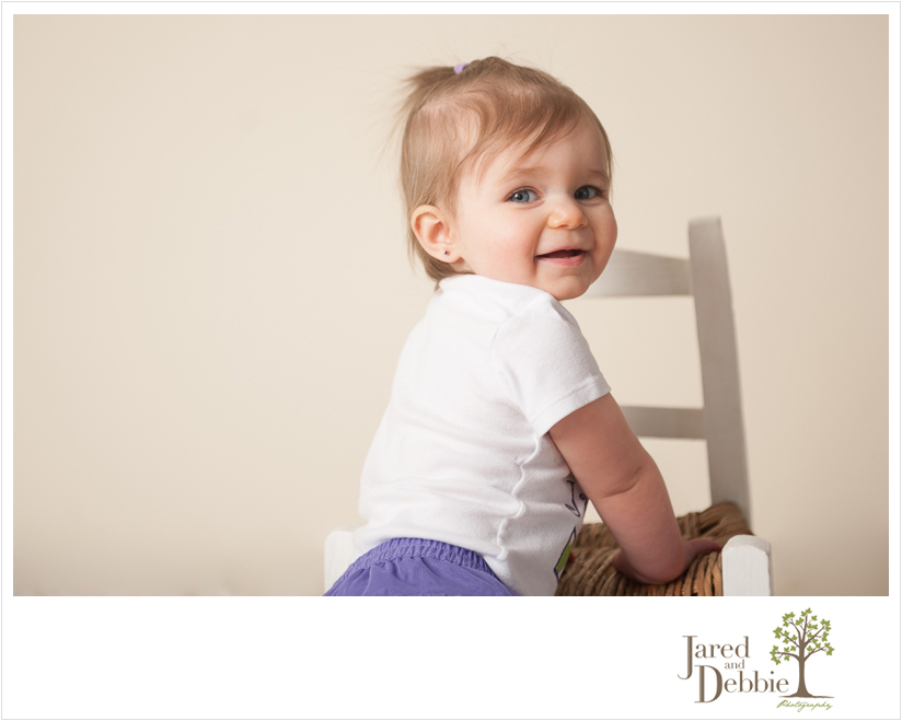 Purple and Green cake smash for baby girl by Jared and Debbie Photography