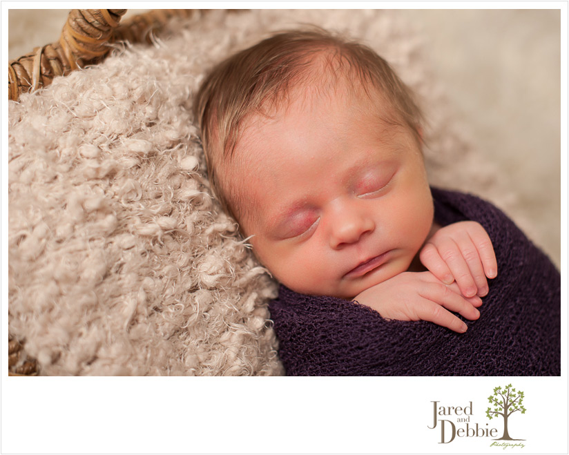 5lb baby girl during newborn session with Jared and Debbie