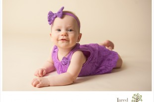 7 month old baby during session with Jared and Debbie