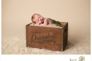 Newborn baby boy during session with Jared and Debbie