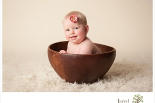 6 month old baby portraits in Plattsburgh with Jared and Debbie
