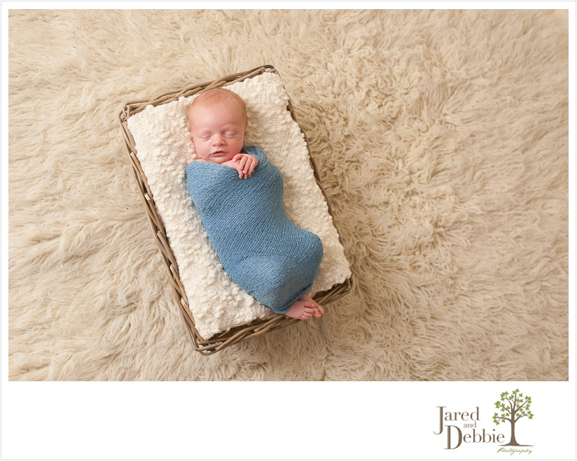 Newborn baby boy born in Burlington photographed by Jared and Debbie