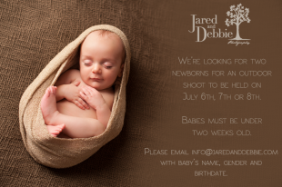 Jared and Debbie Photography Newborn Model Needed in Plattsburgh