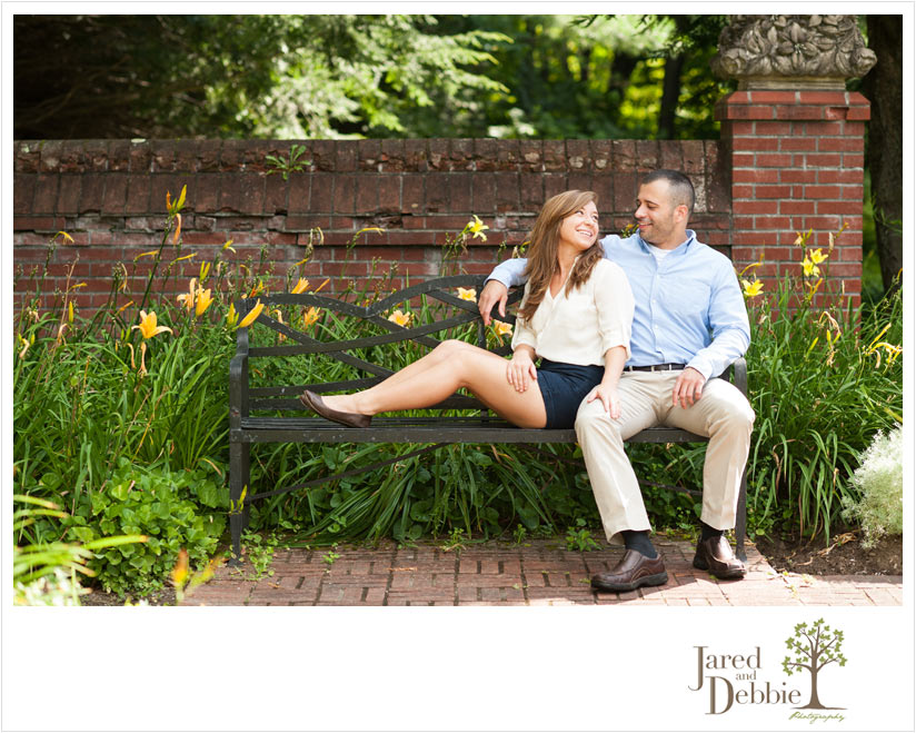 Couple during engagement session in Elizabethtown NY with Jared and Debbie