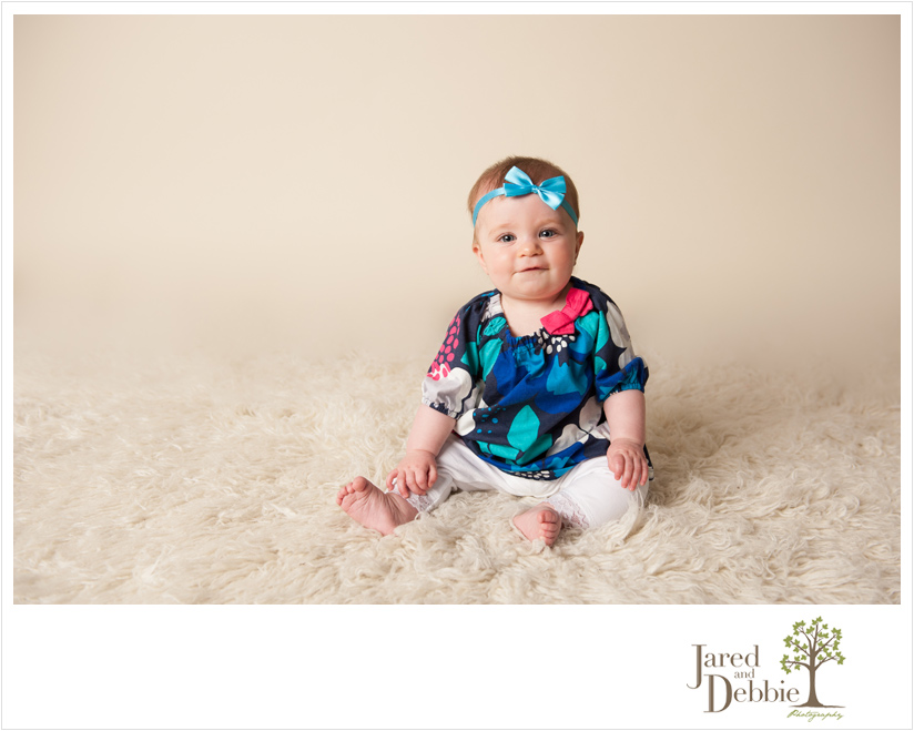 Baby Milestone Session with Jared and Debbie