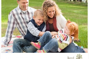 Family of four during session with Jared and Debbie