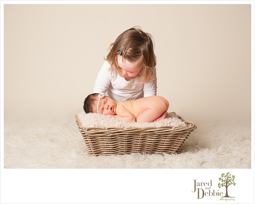 Newborn Baby Girl during session with Jared and Debbie