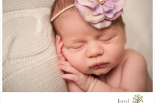 Baby girl during session with Jared and Debbie Photography