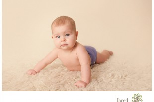 simple six month pose for baby