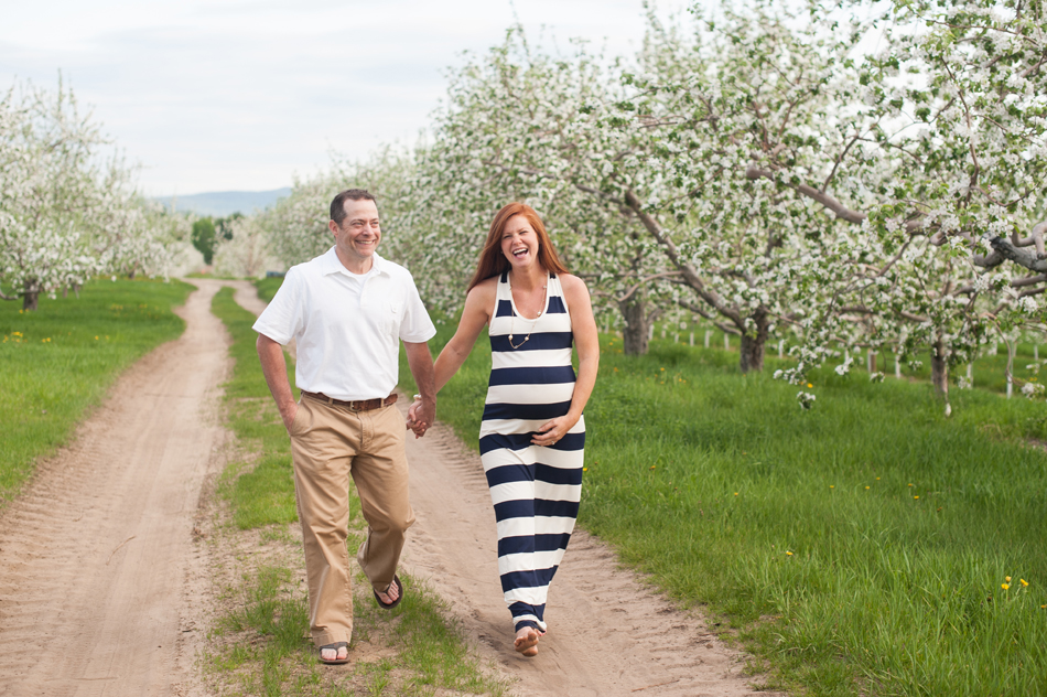 Apple Orchard Maternity Session Peru NY